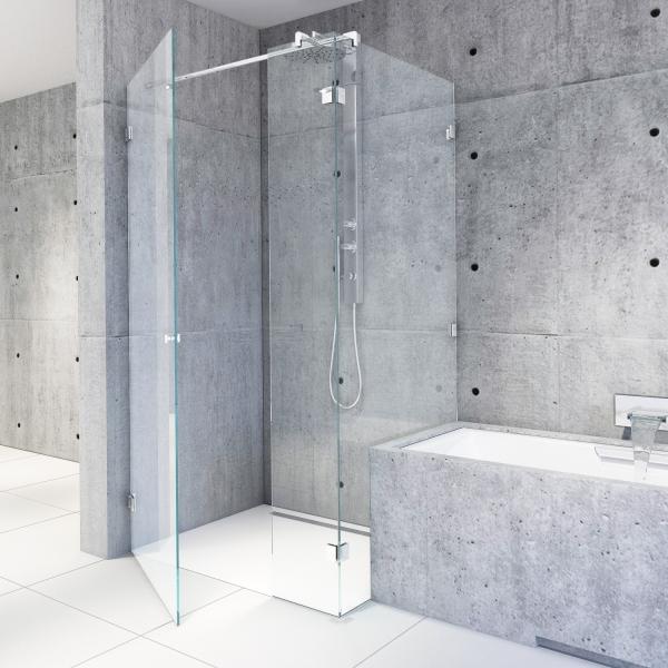 Eckdusche an Badewanne | B05 l Massanfertigung