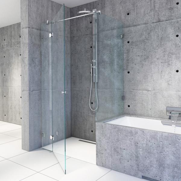 Eckdusche an Badewanne   B06 l Massanfertigung