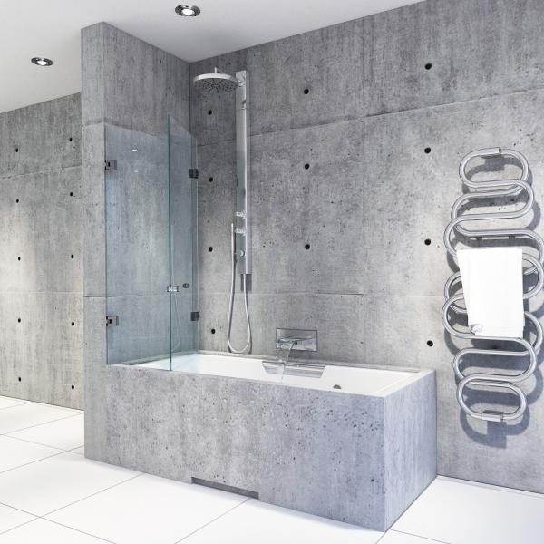 Falttür auf Badewanne | B02 l Massanfertigung